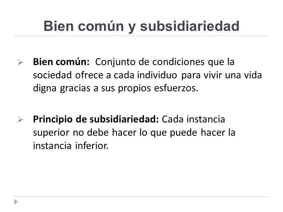 Bien común y subsidiariedad