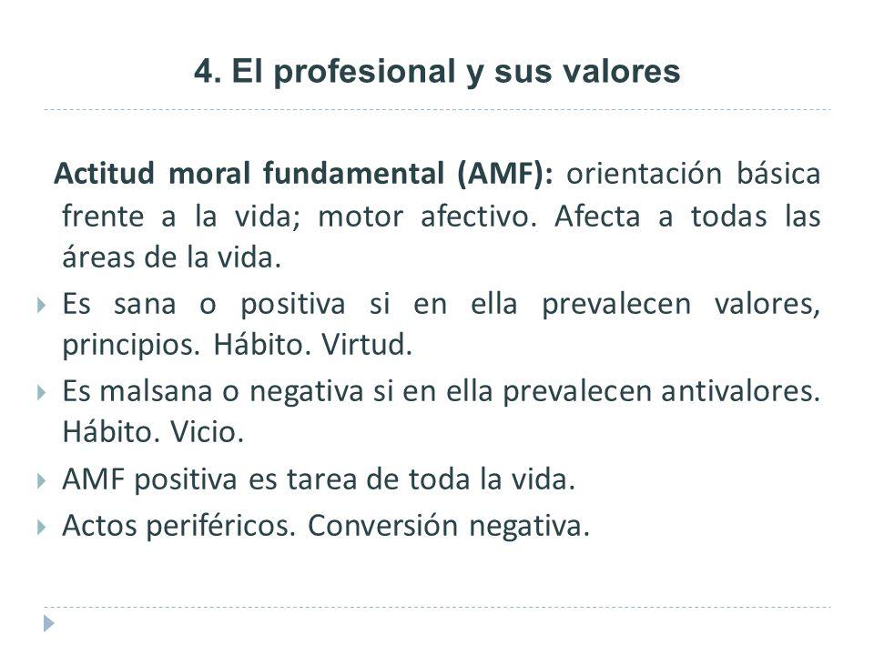 4. El profesional y sus valores