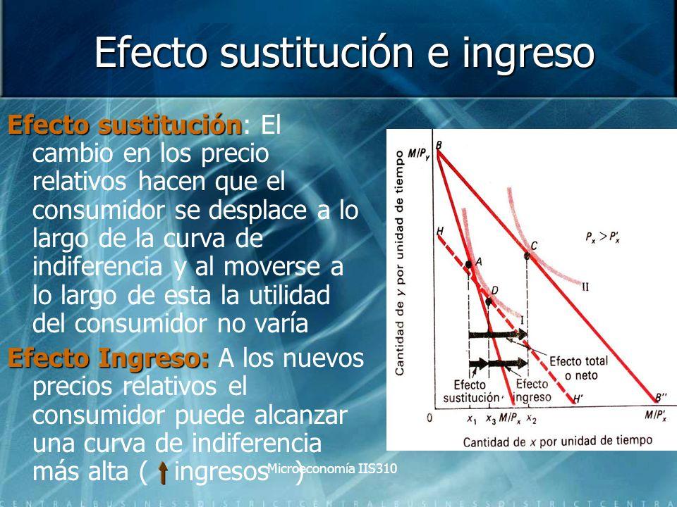 Efecto sustitución e ingreso