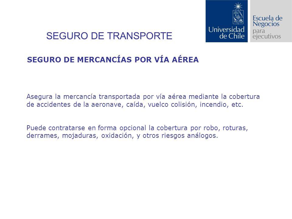 SEGURO DE TRANSPORTE SEGURO DE MERCANCÍAS POR VÍA AÉREA