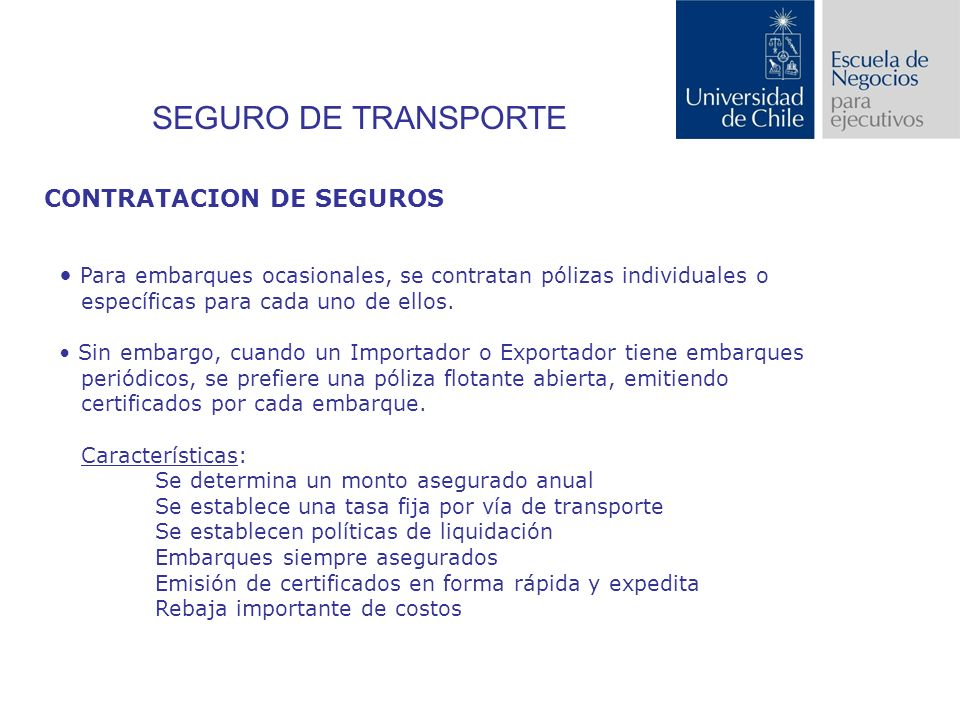 SEGURO DE TRANSPORTE CONTRATACION DE SEGUROS