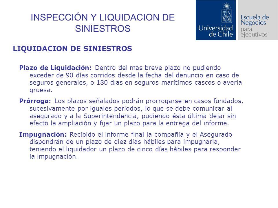 INSPECCIÓN Y LIQUIDACION DE SINIESTROS