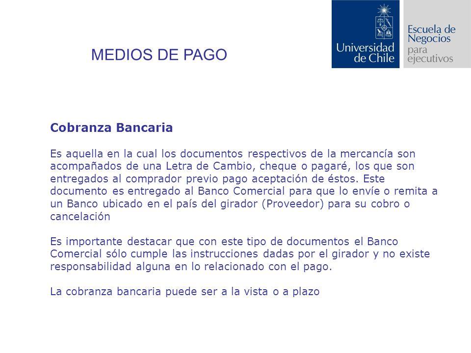 MEDIOS DE PAGO Cobranza Bancaria