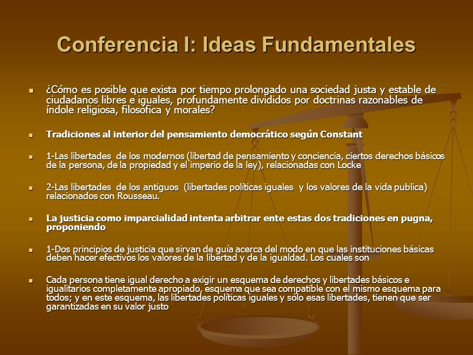 Conferencia I: Ideas Fundamentales