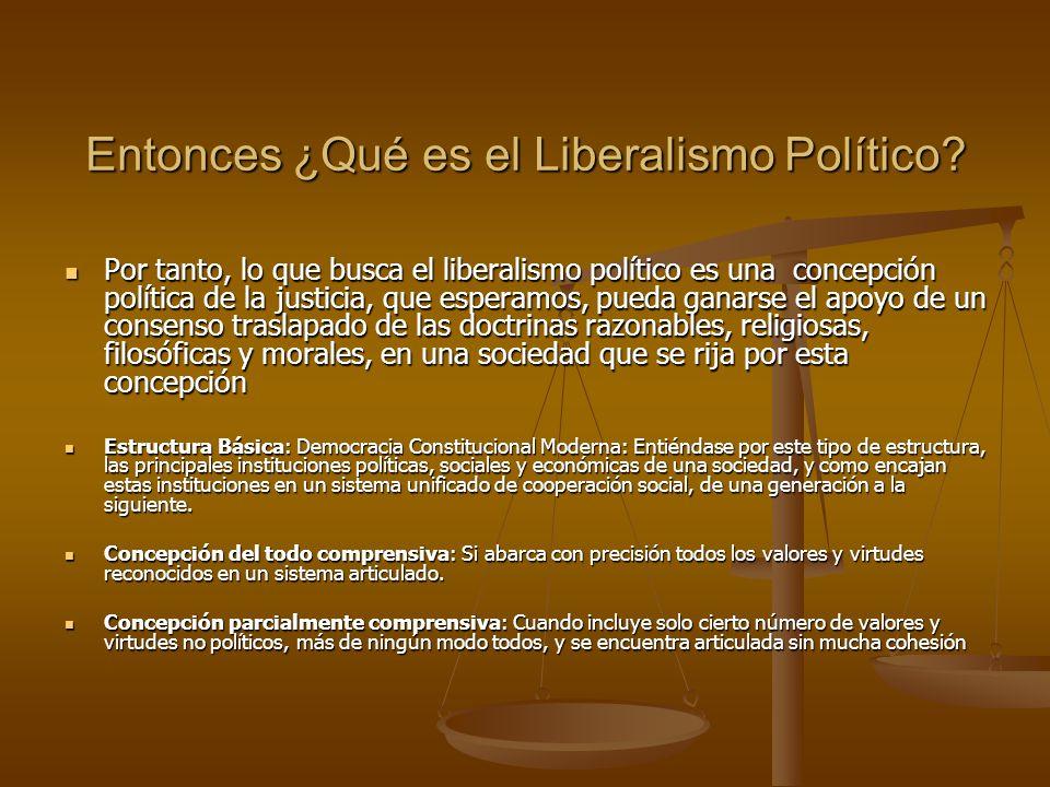Entonces ¿Qué es el Liberalismo Político