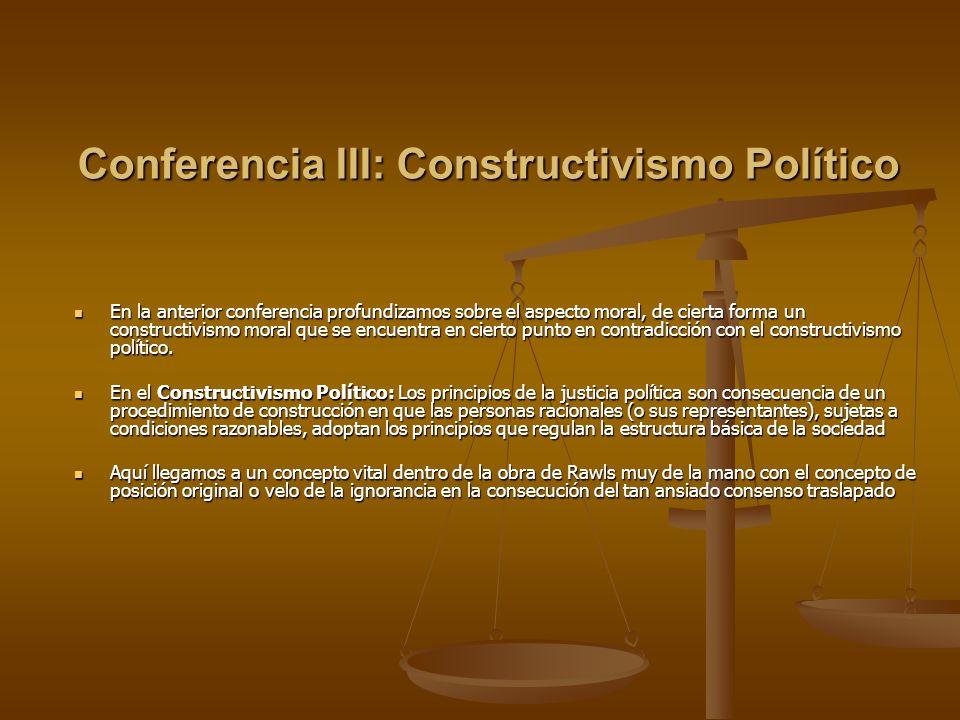 Conferencia III: Constructivismo Político