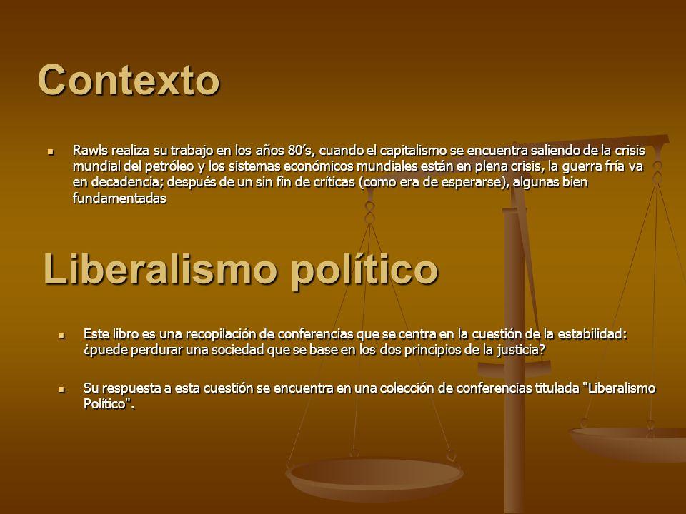 Contexto Liberalismo político