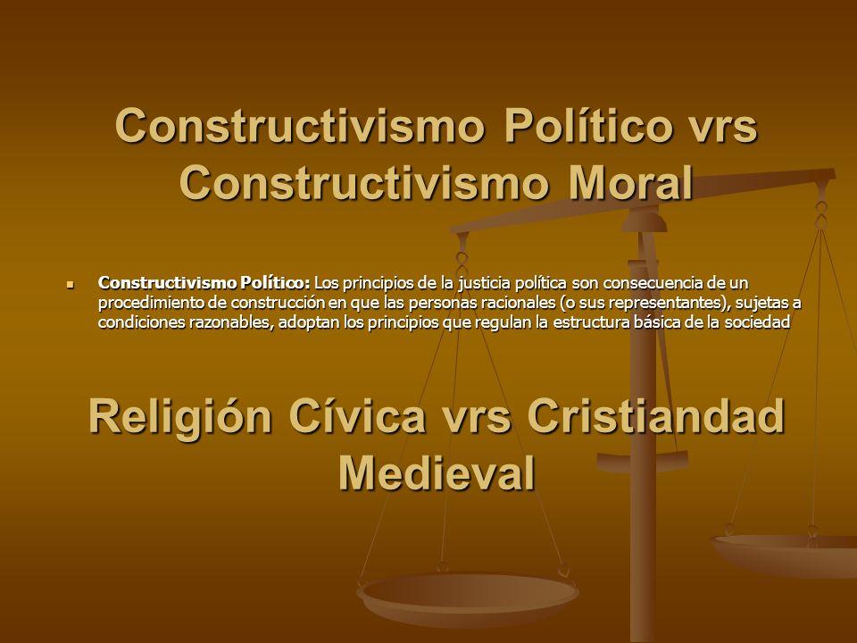 Constructivismo Político vrs Constructivismo Moral