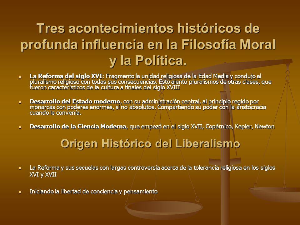Origen Histórico del Liberalismo