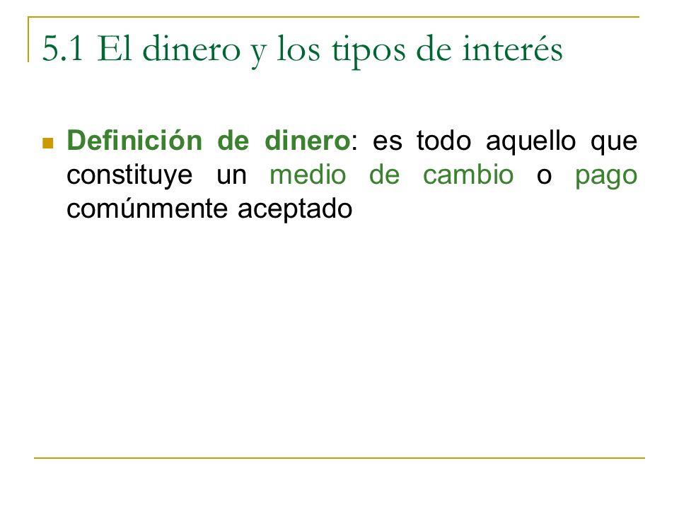 5.1 El dinero y los tipos de interés