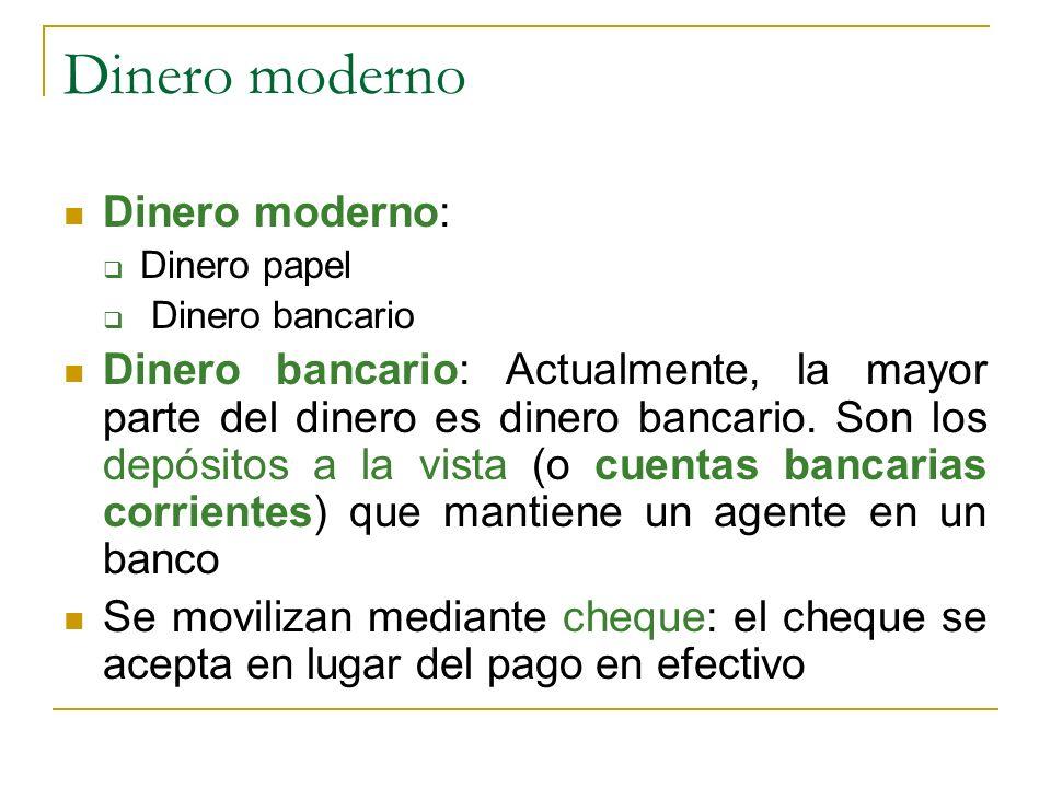 Dinero moderno Dinero moderno: