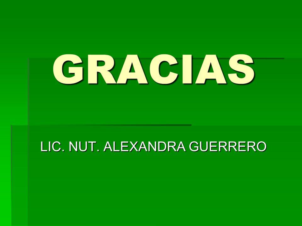 LIC. NUT. ALEXANDRA GUERRERO