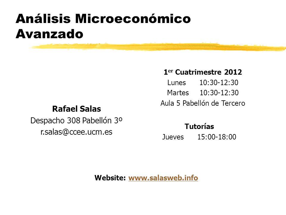 Análisis Microeconómico Avanzado