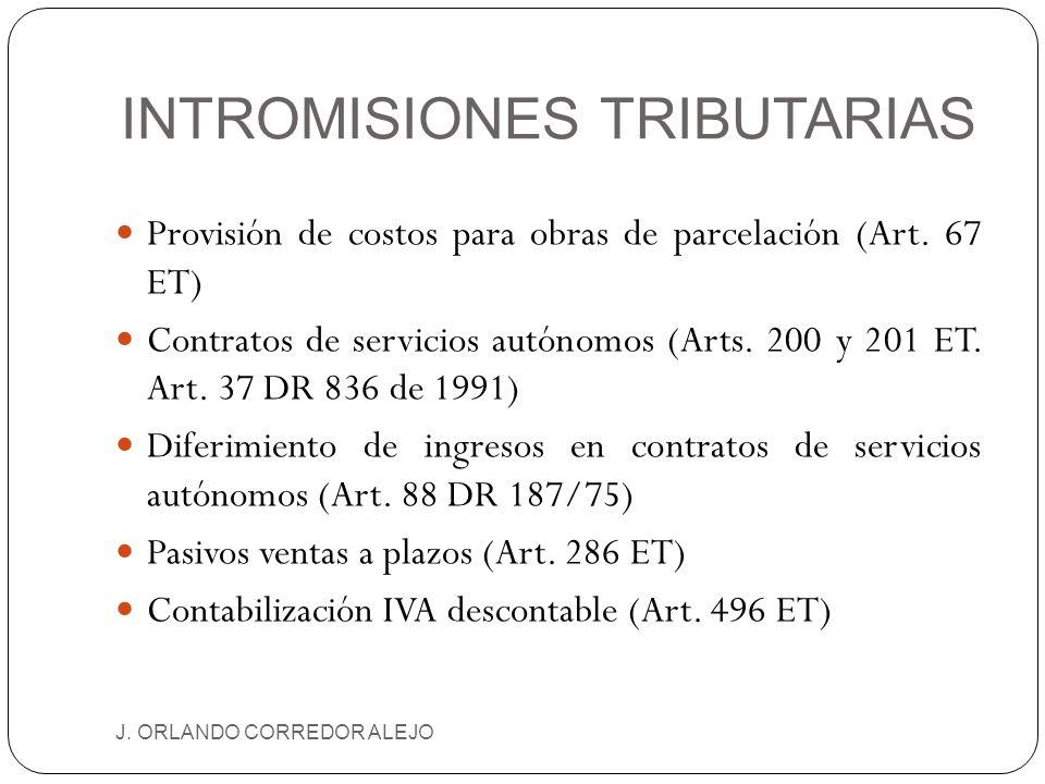 INTROMISIONES TRIBUTARIAS