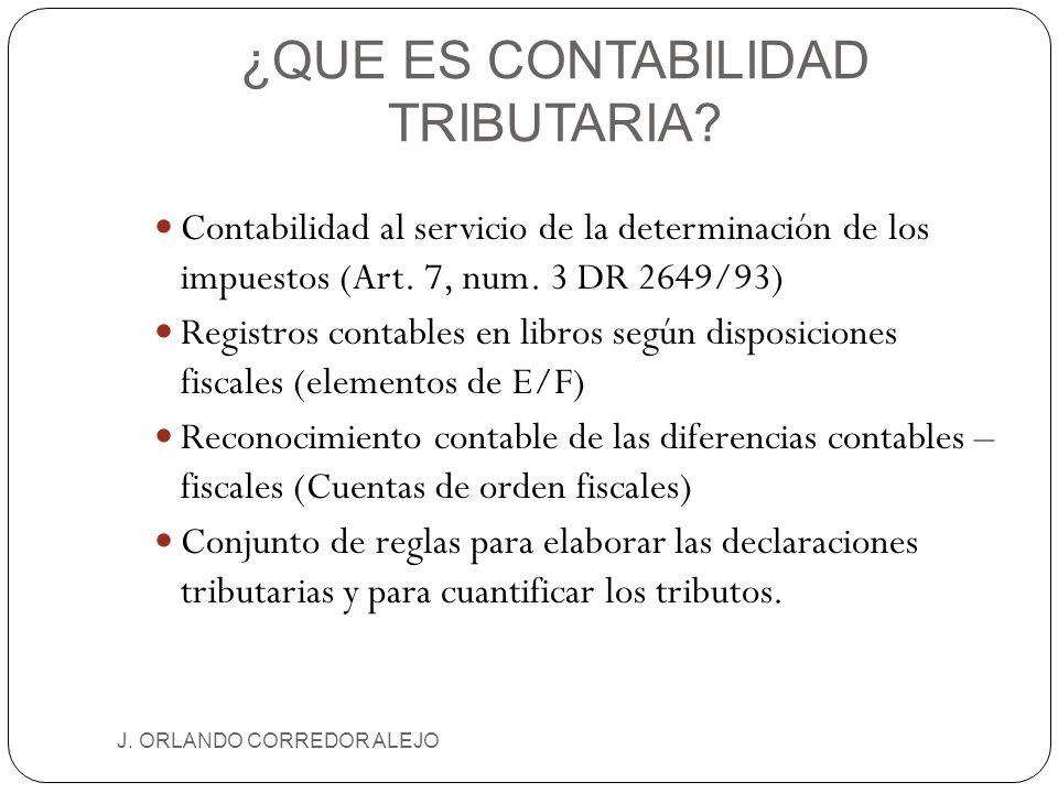 ¿QUE ES CONTABILIDAD TRIBUTARIA