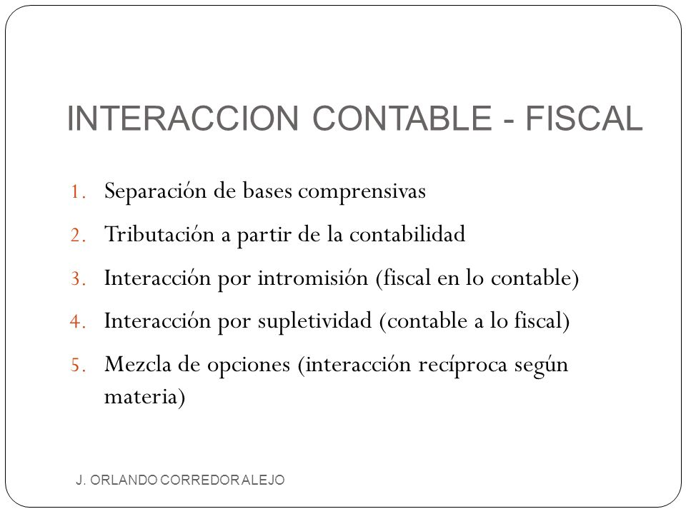 INTERACCION CONTABLE - FISCAL
