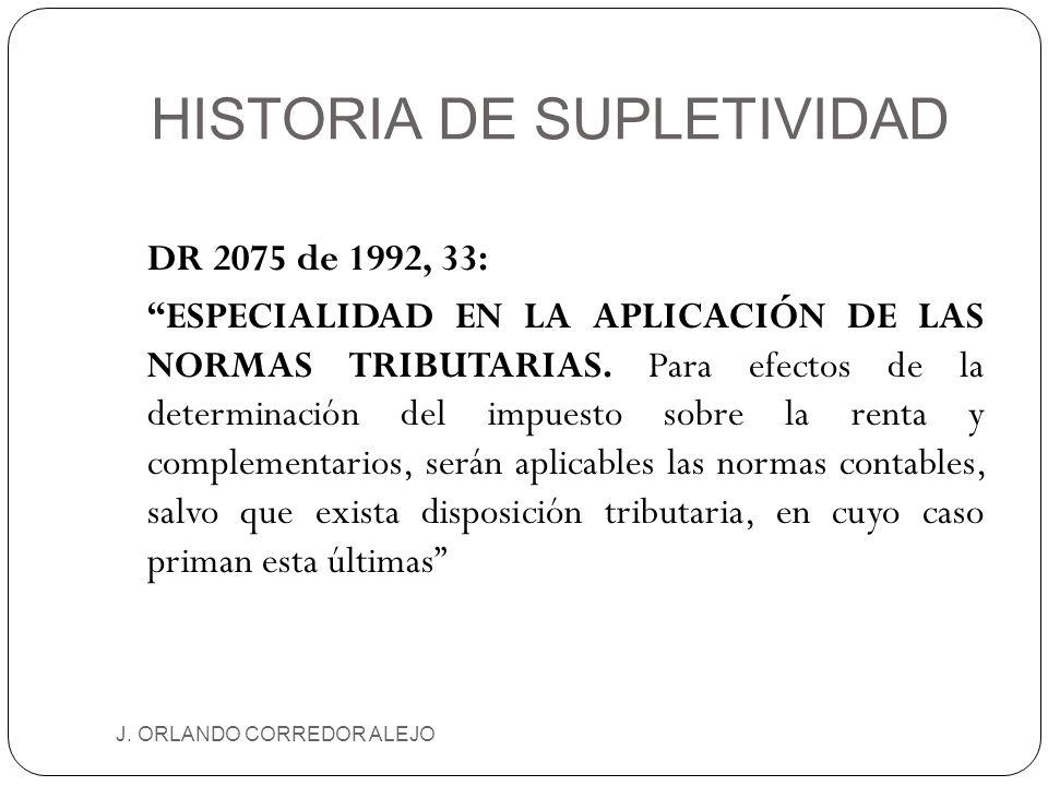 HISTORIA DE SUPLETIVIDAD