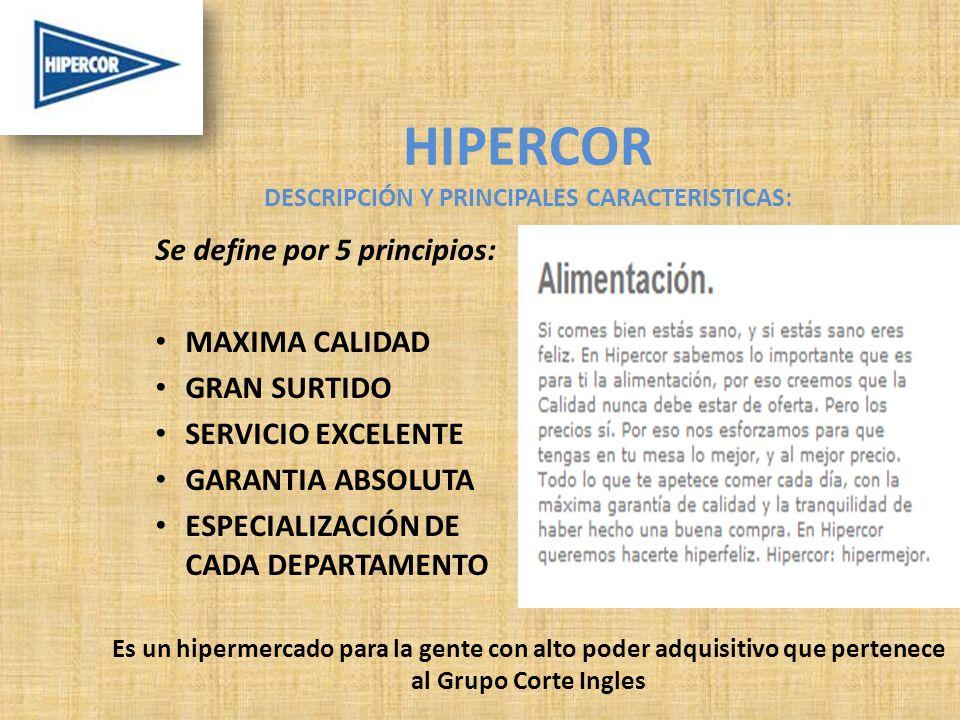 HIPERCOR DESCRIPCIÓN Y PRINCIPALES CARACTERISTICAS: