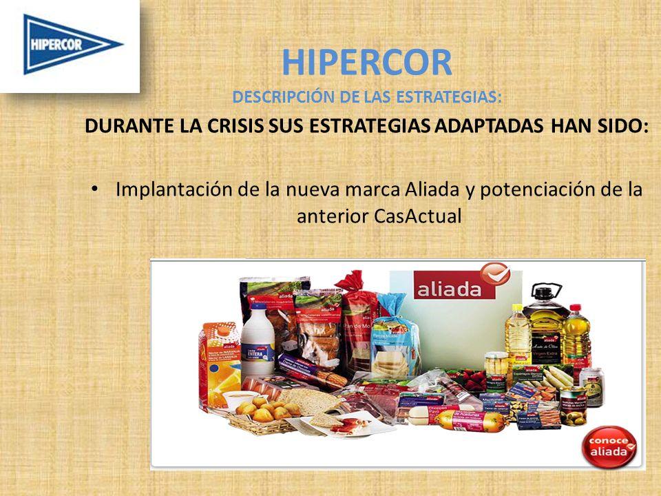 HIPERCOR DESCRIPCIÓN DE LAS ESTRATEGIAS: