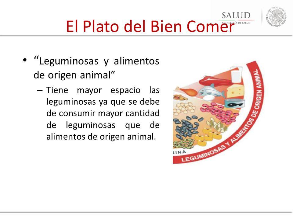 El Plato del Bien Comer Leguminosas y alimentos de origen animal