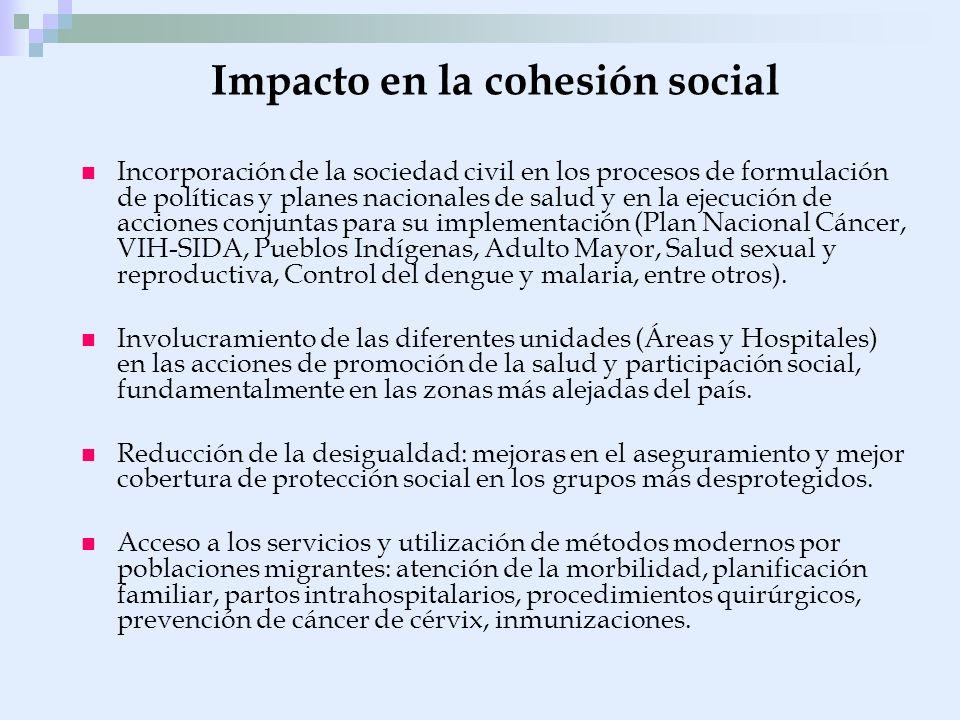 Impacto en la cohesión social