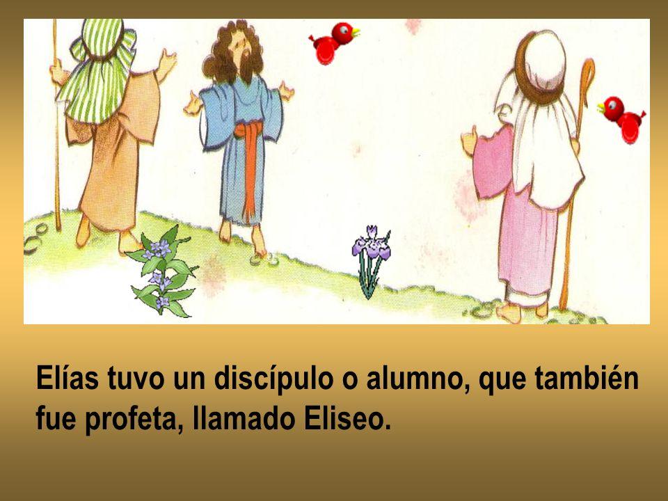 Elías tuvo un discípulo o alumno, que también