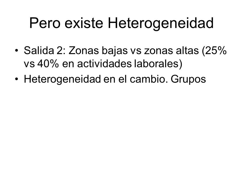Pero existe Heterogeneidad