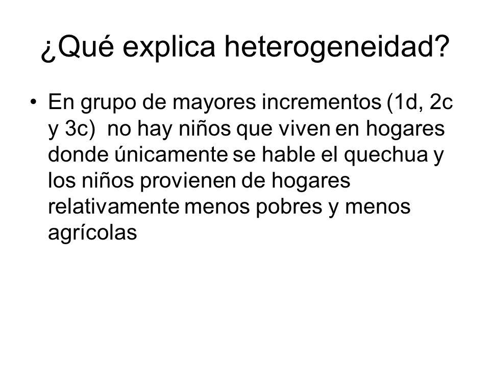 ¿Qué explica heterogeneidad