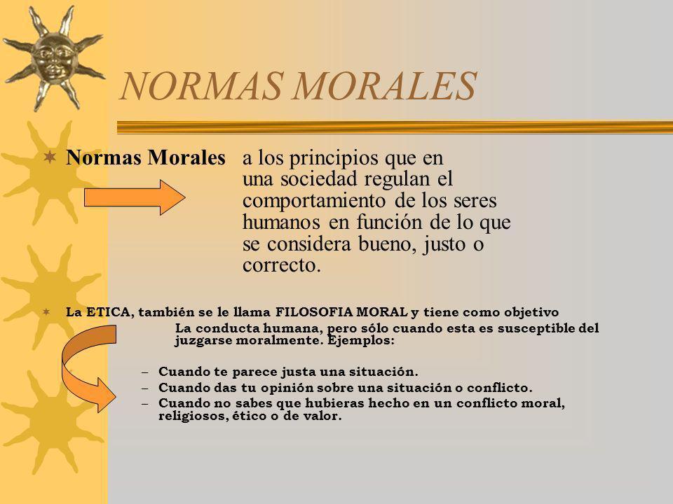 NORMAS MORALES