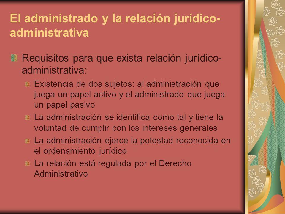 El administrado y la relación jurídico-administrativa