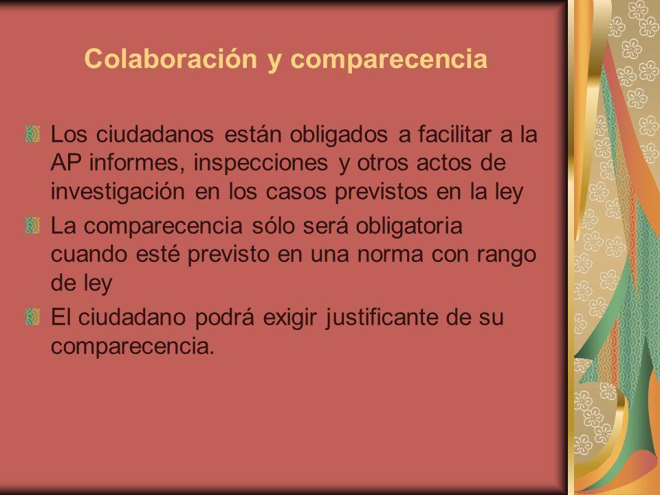 Colaboración y comparecencia