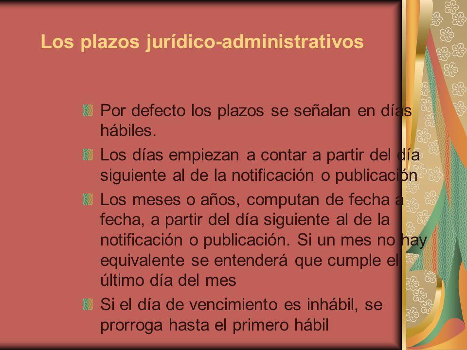 Los plazos jurídico-administrativos