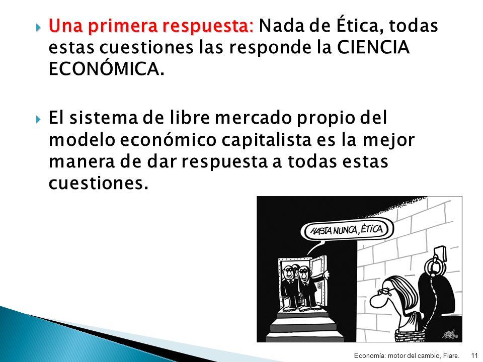 Una primera respuesta: Nada de Ética, todas estas cuestiones las responde la CIENCIA ECONÓMICA.
