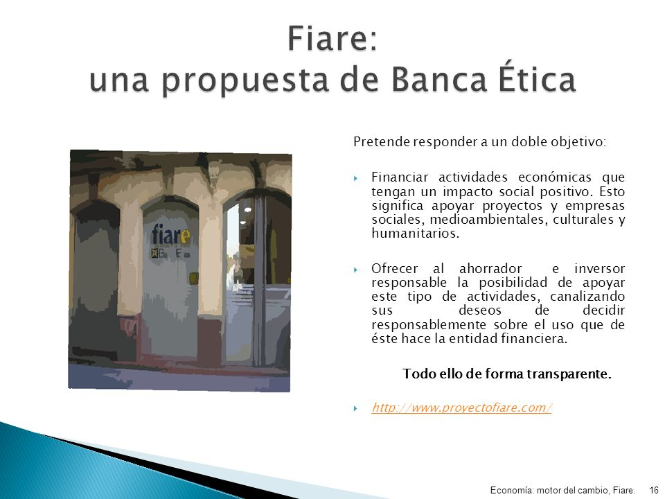Fiare: una propuesta de Banca Ética