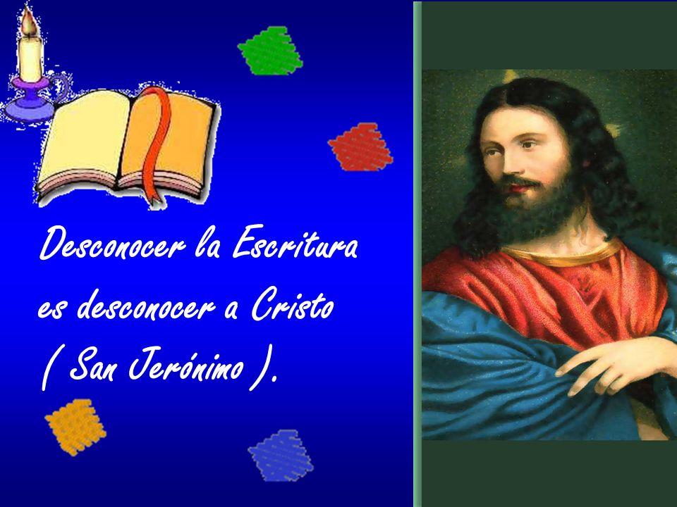 Desconocer la Escritura