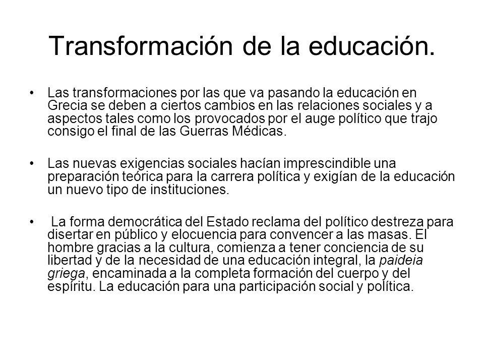 Transformación de la educación.