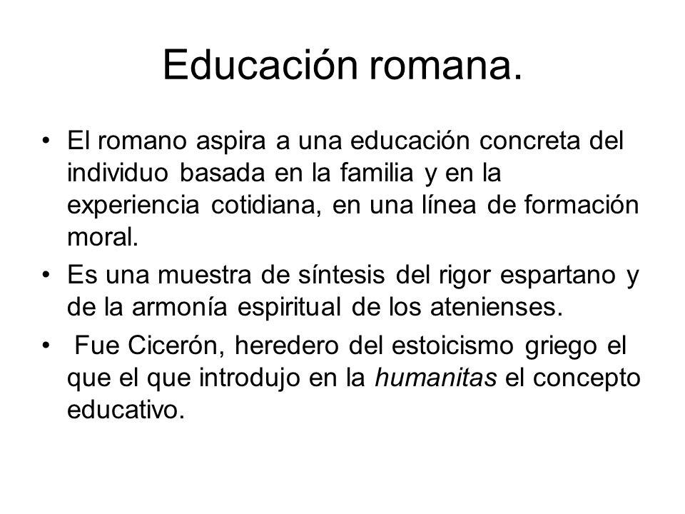 Educación romana.
