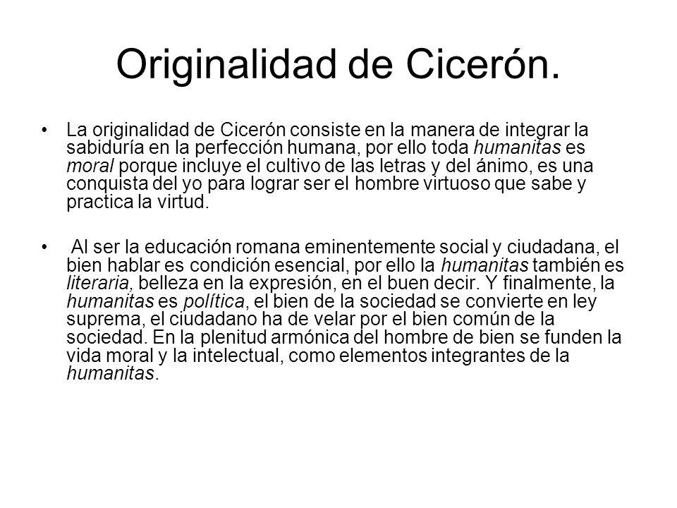 Originalidad de Cicerón.