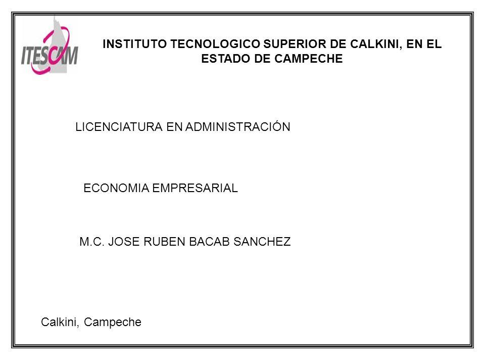 INSTITUTO TECNOLOGICO SUPERIOR DE CALKINI, EN EL ESTADO DE CAMPECHE