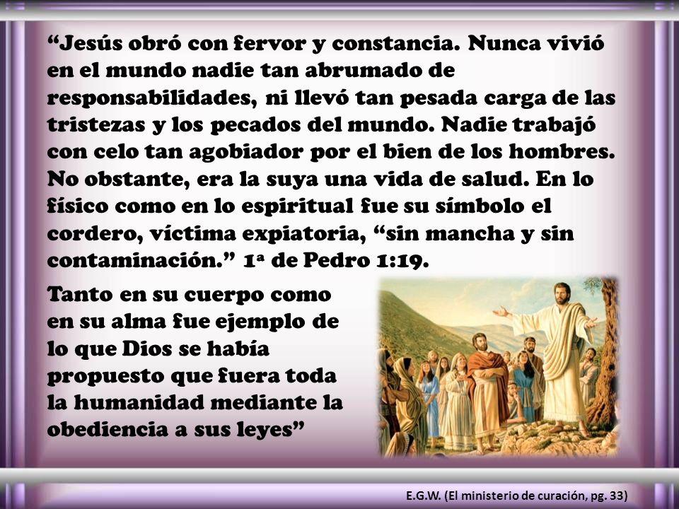 Jesús obró con fervor y constancia
