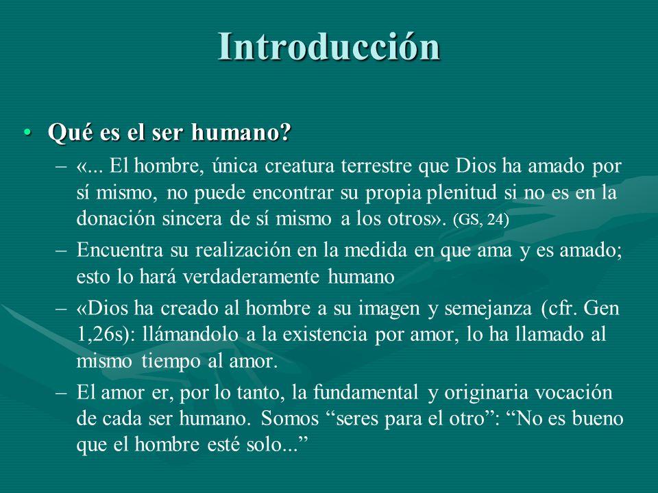 Introducción Qué es el ser humano