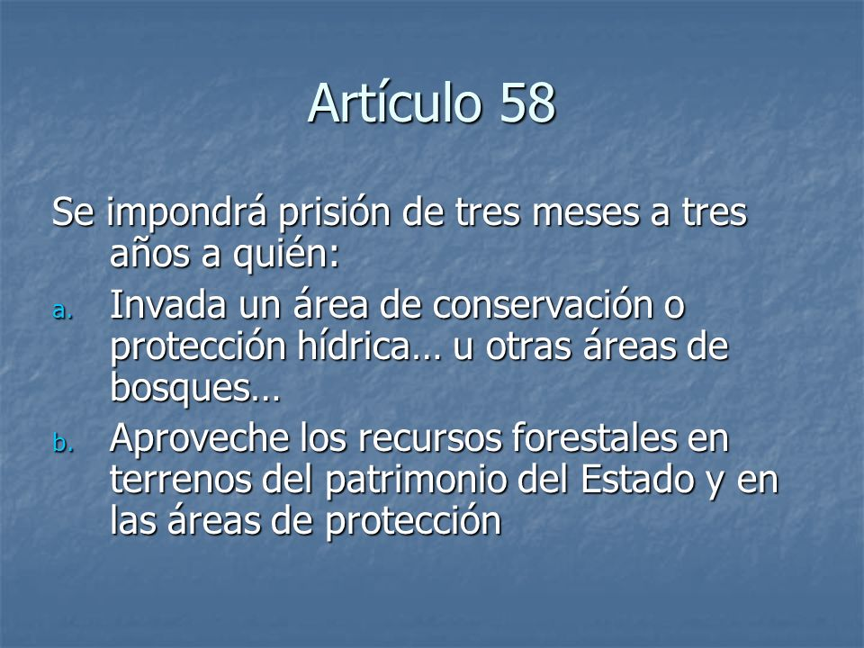 Artículo 58 Se impondrá prisión de tres meses a tres años a quién: