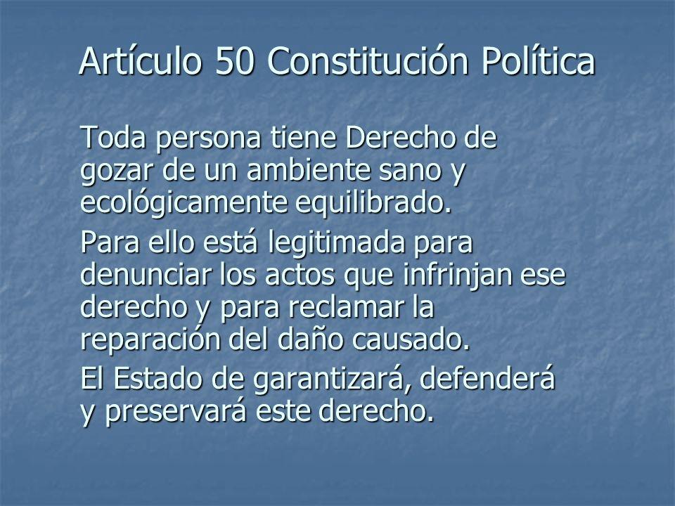 Artículo 50 Constitución Política