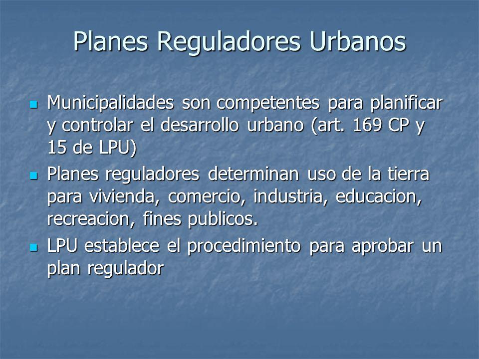 Planes Reguladores Urbanos
