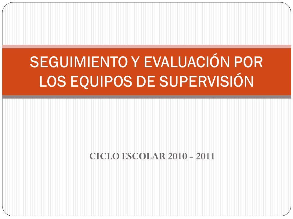 SEGUIMIENTO Y EVALUACIÓN POR LOS EQUIPOS DE SUPERVISIÓN