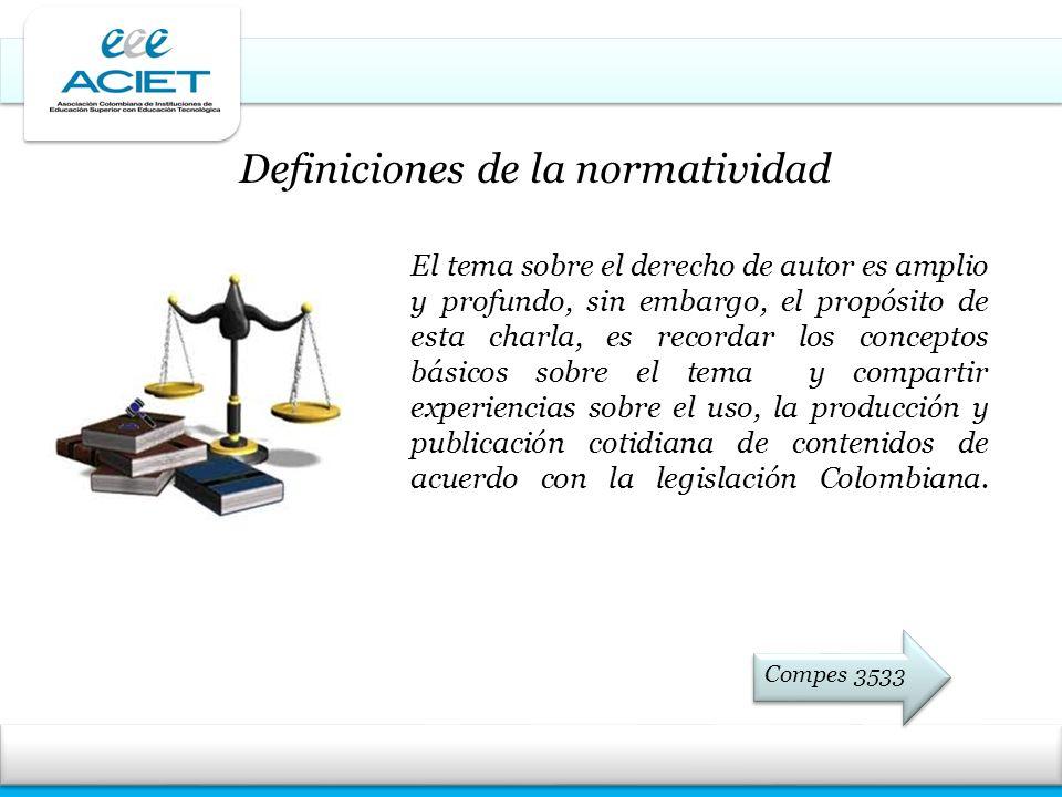 Definiciones de la normatividad