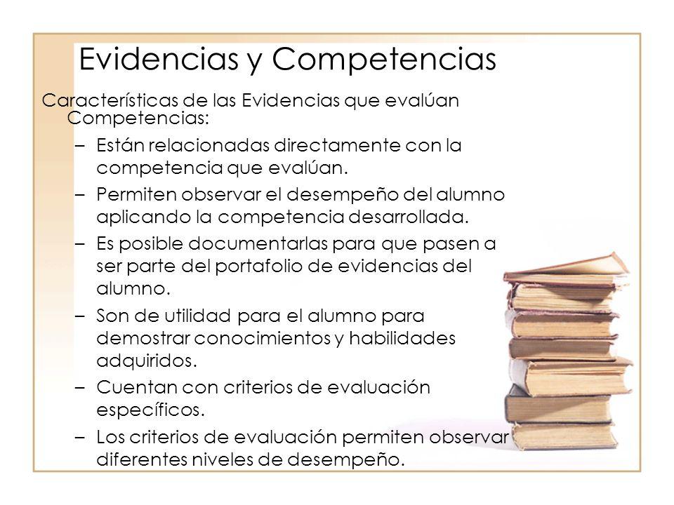 Evidencias y Competencias