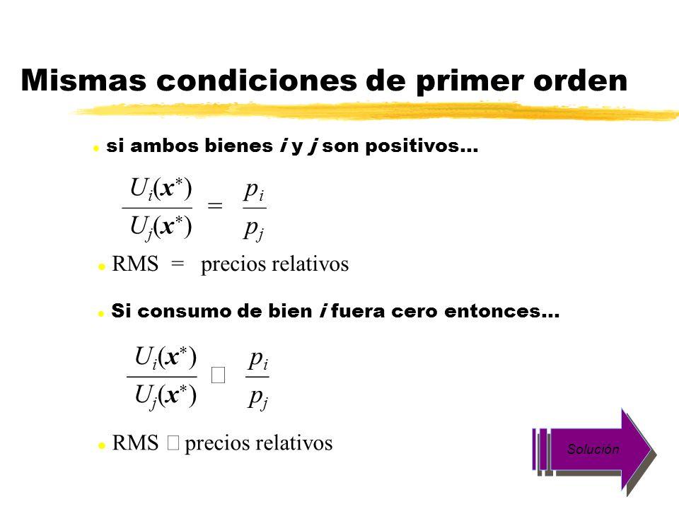 Mismas condiciones de primer orden