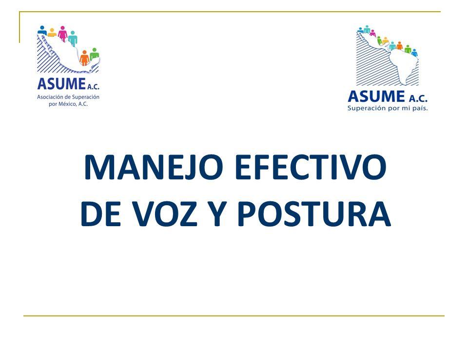 MANEJO EFECTIVO DE VOZ Y POSTURA