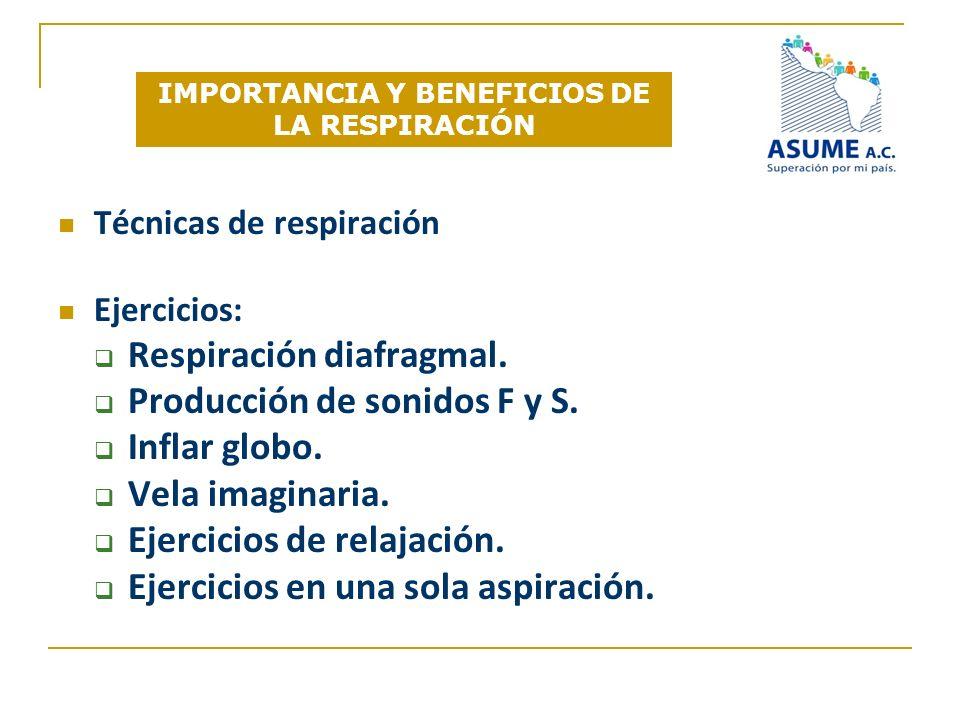 IMPORTANCIA Y BENEFICIOS DE LA RESPIRACIÓN